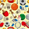 Seamless sport goods pattern Royalty Free Stock Image