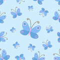 Seamless spring background for use in design, web site, packing, textile, fabric.nBaby`s butterfly pattern Royalty Free Stock Photo