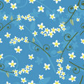 Seamless spring floral pattern - vector Royalty Free Stock Image