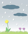 Seamless Spring Rain Royalty Free Stock Photos