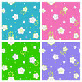 Seamless spring or summer floral patterns Royalty Free Stock Photo