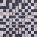 Seamless square marble and blue glass Mosaic pattern Royalty Free Stock Photo