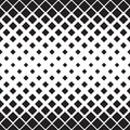 Seamless Square Pattern. Abstract Black and White Geometric Ornament
