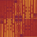 Seamless squares and stripes pattern ocher brown purple shifted