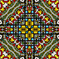 Seamless stained glass pattern Royalty Free Stock Photos