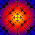 Seamless stained glass pattern background leaded Stock Photography