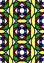 Seamless stained glass tile Royalty Free Stock Photography