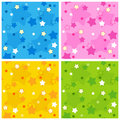 Seamless star pattern Stock Images