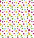 Seamless Star Pattern Royalty Free Stock Photo