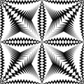 Seamless Star Pattern. Vector Black and White Wrappimg Paper Bac