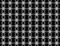 Seamless Star snowflakes pattern on background.