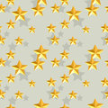 Seamless stars pattern gold star illustraion Stock Photography