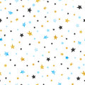 Seamless stars pattern. Vector celebration background Royalty Free Stock Photo