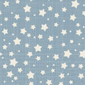 Seamless stars pattern vector linen texture Royalty Free Stock Images