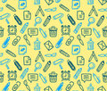 Seamless stationery pattern Stock Photo