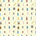 Seamless stationery pattern Stock Photos