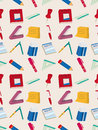 Seamless stationery pattern Stock Image