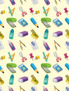 Seamless stationery pattern Royalty Free Stock Images
