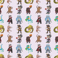 Seamless story villain pattern Stock Images