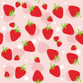 Seamless strawberry Stock Photo