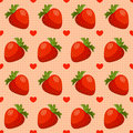 Seamless strawberry pattern Stock Image