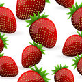 Seamless Strawberry Pattern Stock Photography