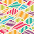 Seamless Striped Geometric Pattern