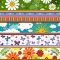 Seamless striped summer pattern Royalty Free Stock Photos