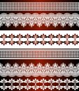 Seamless stripes pattern. Stripe Set of Lace Bohemian Seamless Borders. Decorative ornament backdrop for fabric, textile, wrapping