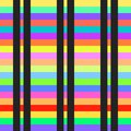 Seamless stripes pattern vector colorful abstract background art geometric horizontal and vertical retro vintage design Royalty Free Stock Photo