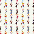 Seamless student pattern Royalty Free Stock Image