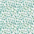 Seamless stylized leaf pattern background Royalty Free Stock Images