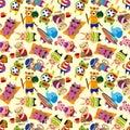 Seamless summer animal pattern Stock Image