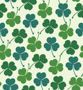 Seamless summer pattern with clover trefoil endless background with decorative flowers texture Royalty Free Stock Photos