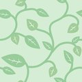 Seamless Summer and Spring Pattern with Leaves Royalty Free Stock Photo