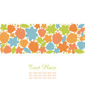 Seamless summer stripe with berries flowers and leafs ornate design elements for cute cards banners borders scrapbook decorations Royalty Free Stock Photo