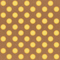 Seamless sun pattern on brown background Royalty Free Stock Photos