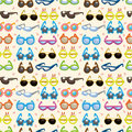 Seamless Sunglasses pattern Royalty Free Stock Photo