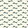 Seamless surface pattern with abstract waves. Contemporary print with geometric forms. Modern ornament with triangles.