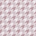Seamless surface pattern with houndstooth ornament. Classic fashion fabric print. Checked geometric background. Royalty Free Stock Photo