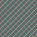 Seamless surface pattern repeated diagonal lines and circles. Geometric background. Grid ornamental surface texture.