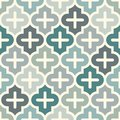 Seamless surface print with ogee ornament. Oriental traditional pattern with repeated mosaic tile Moroccan crosses motif