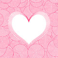 Seamless Swirl Pattern with heart. Vector Royalty Free Stock Photo