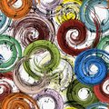 Seamless swirls background pattern, with circles, strokes and splashes, grungy