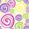 Seamless swirls on white Stock Photography