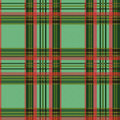 Seamless tartan pattern checkered shades of green and red vector as a plaid Royalty Free Stock Image