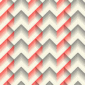Seamless Tartan Pattern. Vector Black and Red Woven Background Royalty Free Stock Photo