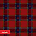 Seamless tartan pattern vector illustration of Royalty Free Stock Photography