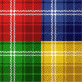Seamless tartans set Royalty Free Stock Photography