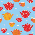 Seamless tea bright  pattern Stock Images
